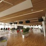 White Oak Fire Rated Ceiling Installed at the Galway Racecourse Tote Building