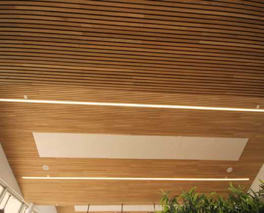 Fire Rated White Oak Ceiling at the Galway Racecourse Tote Building