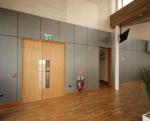 White Oak Fire Rated Doors Installed at the Galway Racecourse Tote Building