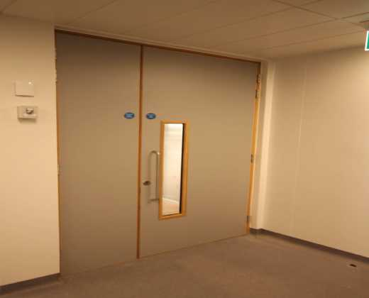 Formica Fire Rated Split Fire Door Installed at the Galway Racecourse Tote Building