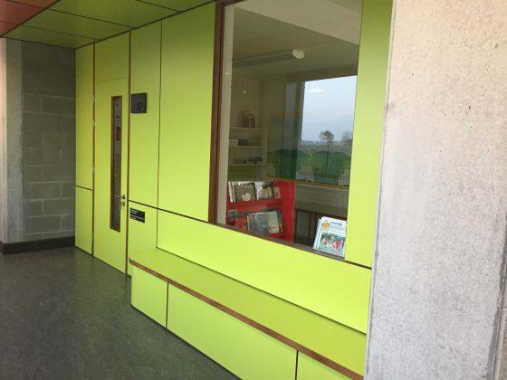 Green formica door